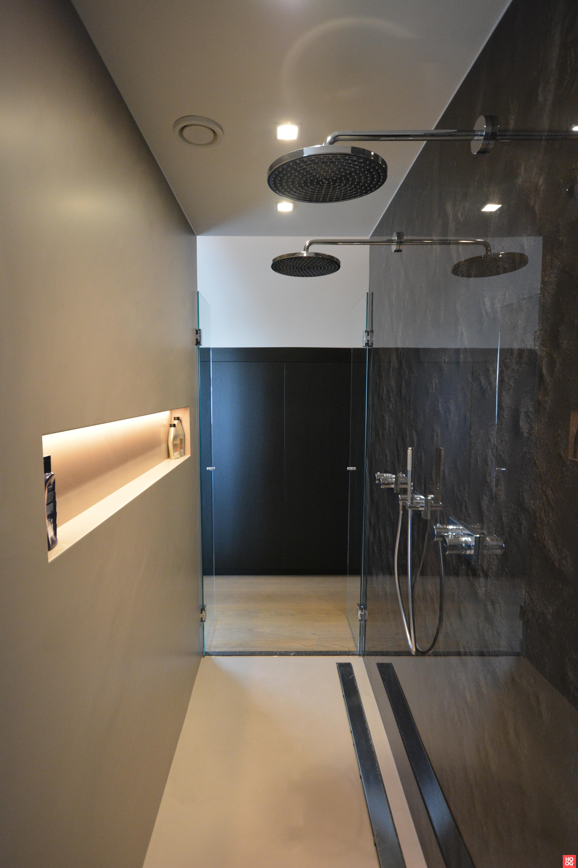 Met deze oplossing een waterdichte wandafwerking douche, waardoor er ...