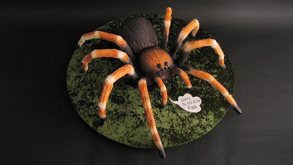 3D Tarantula Spider Cake Yeners Way DORTY figurky Pinterest
