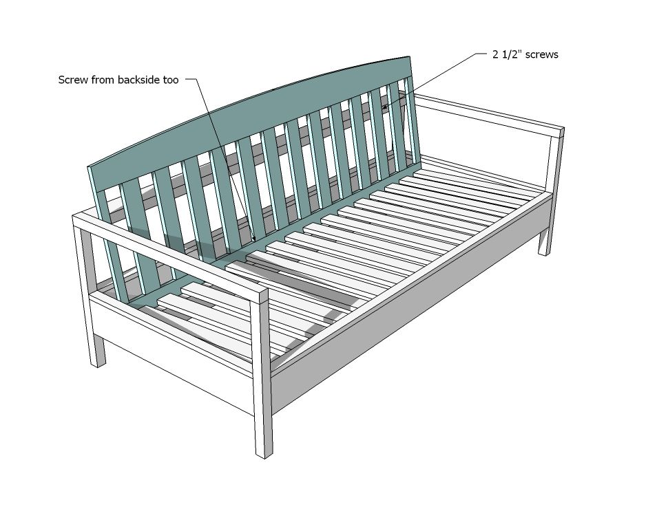 how to build a couch frame with 2x4 | ... 2x4s as shown above in ...