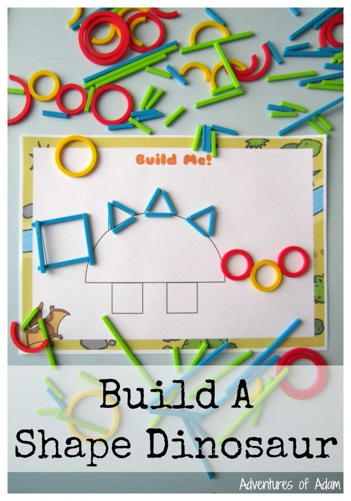 build a shape dinosaur with hape rings sticks math is fun dinosaurs preschool dinosaurs. Black Bedroom Furniture Sets. Home Design Ideas