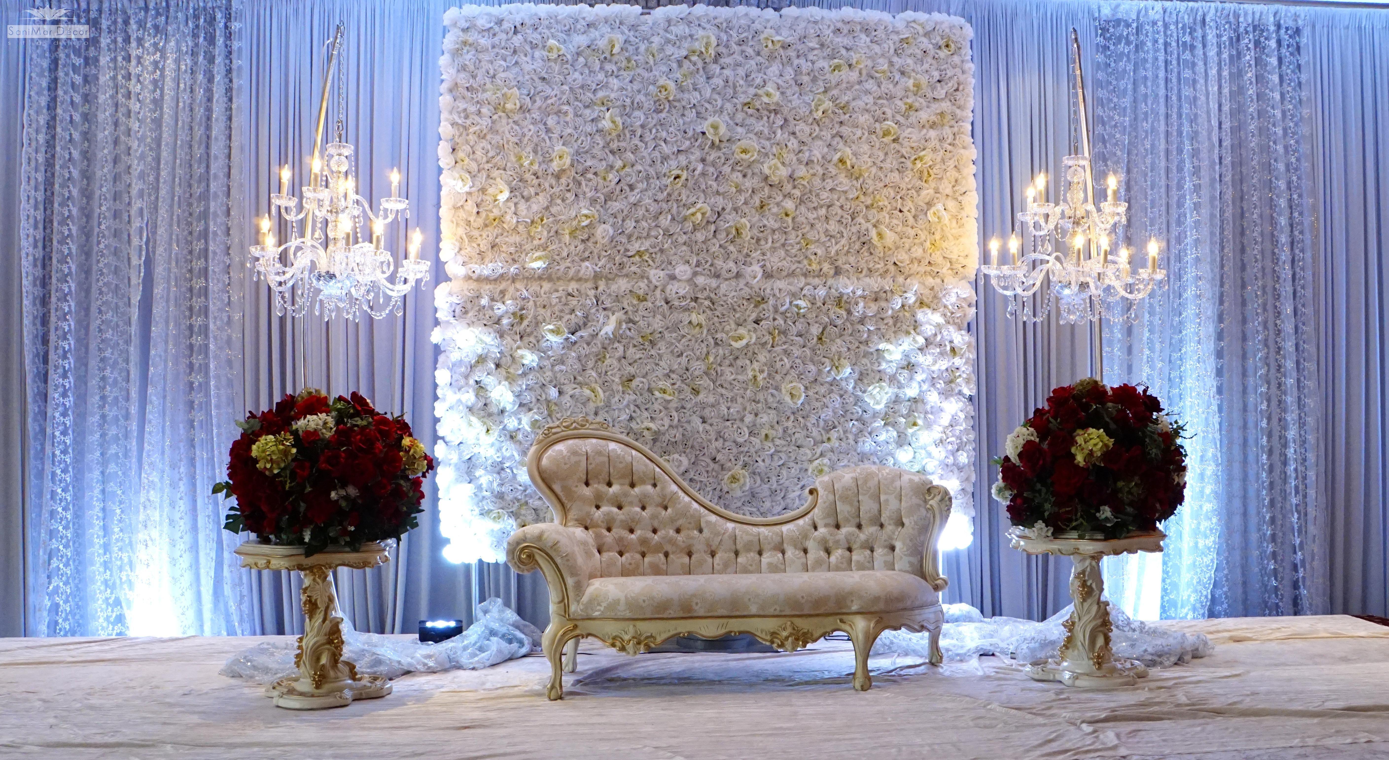 Pakistanian Wedding stage decoration,flower wall_9 ...