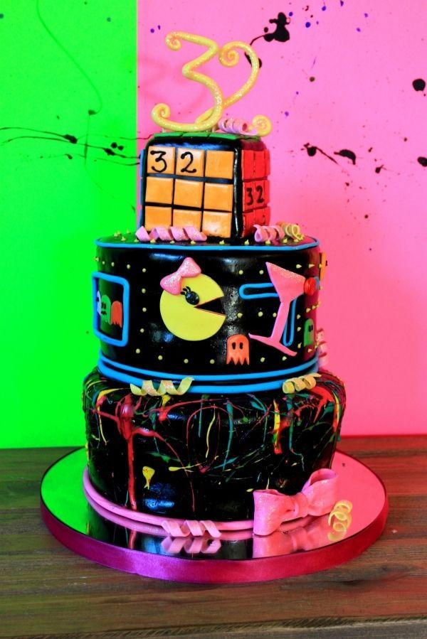Sensational 80S Birthday Party 80S Birthday Parties Neon Birthday Cakes Funny Birthday Cards Online Elaedamsfinfo