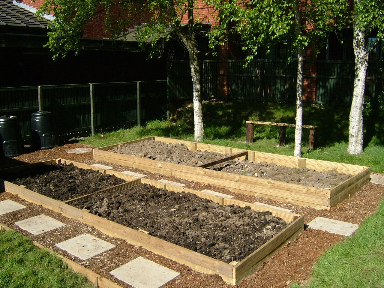 Allotment bed designs allotments pinterest allotment for Vegetable plot ideas