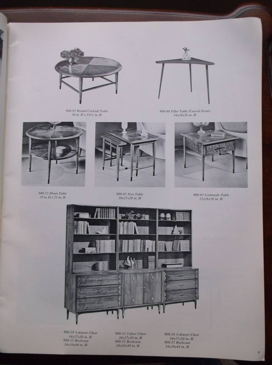 Vintage Lane Furniture Table Portfolio Catalog Fall 1964 | EBay