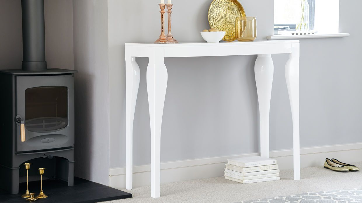 Superbe Modern White Gloss Console Table | Styling And Storage | UK