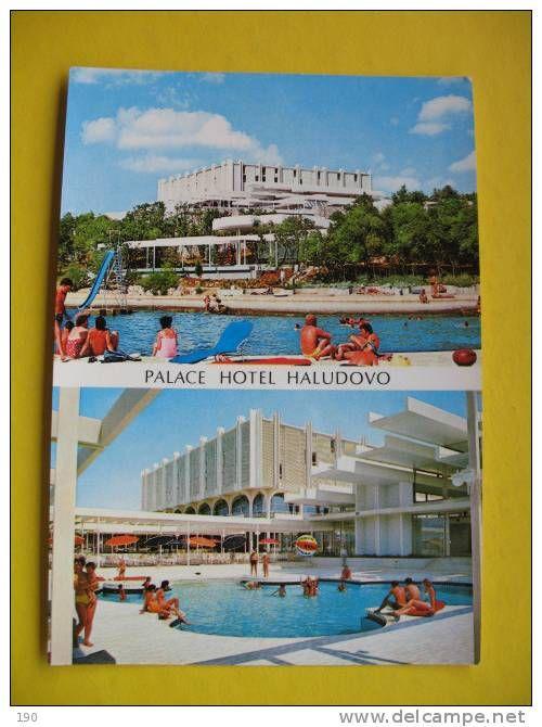 Postcard For Former Famous Hotel Resort Haludovo Krk Publisher Ozeha Rijeka 1973 Palace For Sale Hotel Rijeka