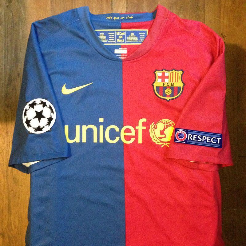 5ca8f844a58 2008-2009 FC Barcelona Home Jersey    Primera equipació del FC Barcelona  per a…