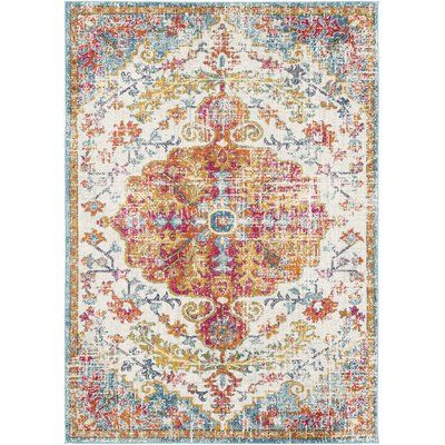 Best Mistana Hillsby Vintage Burnt Orange Teal Area Rug Rugs 400 x 300