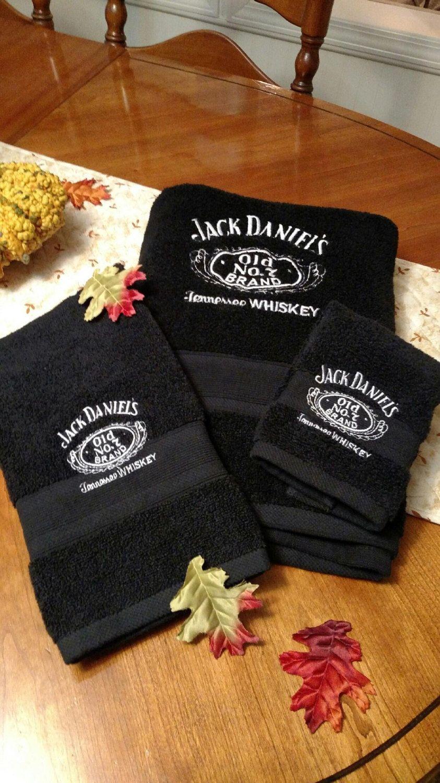 "Beach Cotton Towel /""Jack Daniels/"" 150x78 cm 59x31 inches"