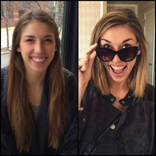 22 exemples de coiffures AVANT/APRÃ S pour changer de look