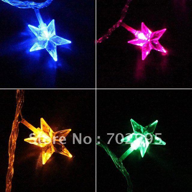outdoor christmas star light waterproof jingle bells led christmas lights10m 100leds100 bells