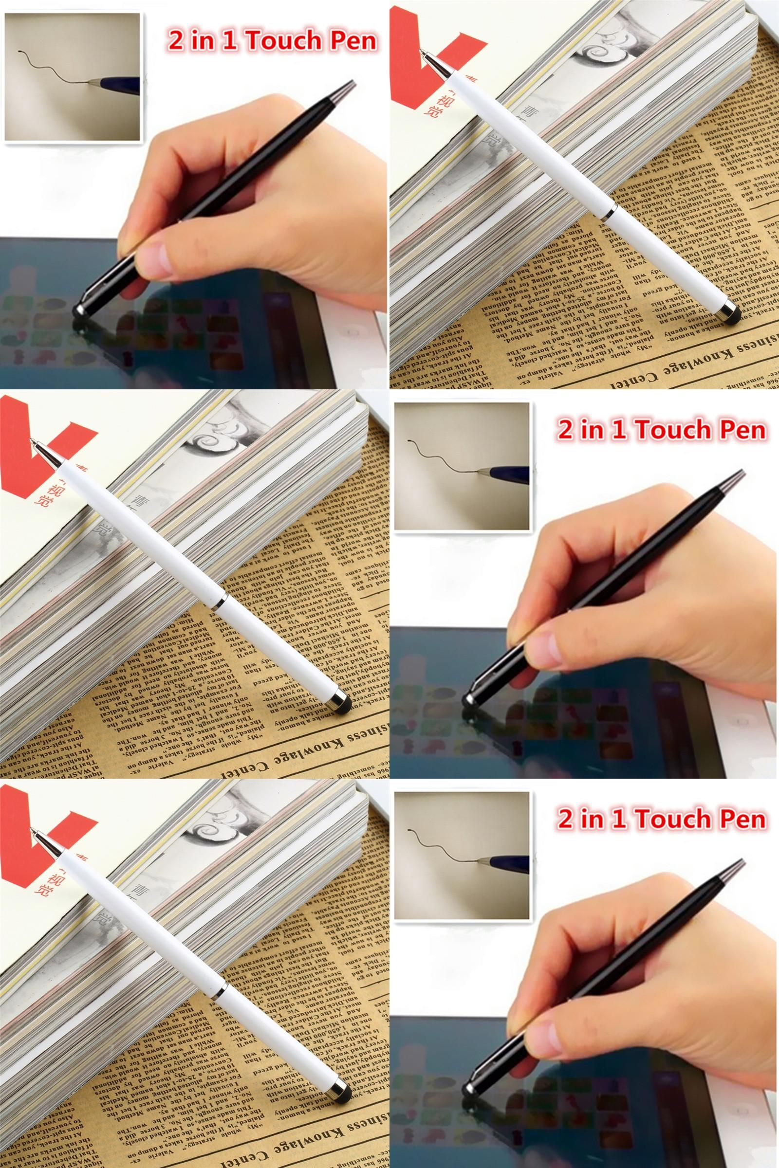 Visit to Buy  2 in 1 Mini Universal Tablets Touch Stylus Pen drawing Ball 4b1f9423c8f3f