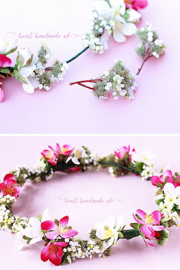 How to a fabulous diy flower crown for festival season crown how to a fabulous diy flower crown for festival season heart handmade uk izmirmasajfo