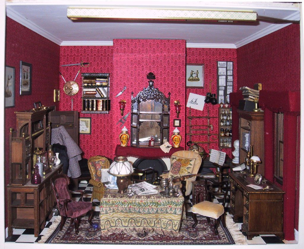 Living room victorian pinterest baker street sofas and 221b - The Best Sherlock Holmes Miniature Sitting Room Ever Created By Nancy Garces Saroli