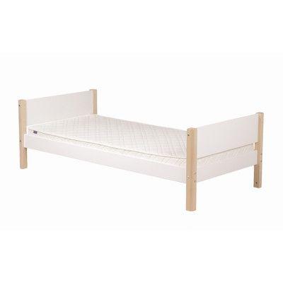flexa flexa white single bed frame with pull out bed frame wayfair uk - Single Bed Frame