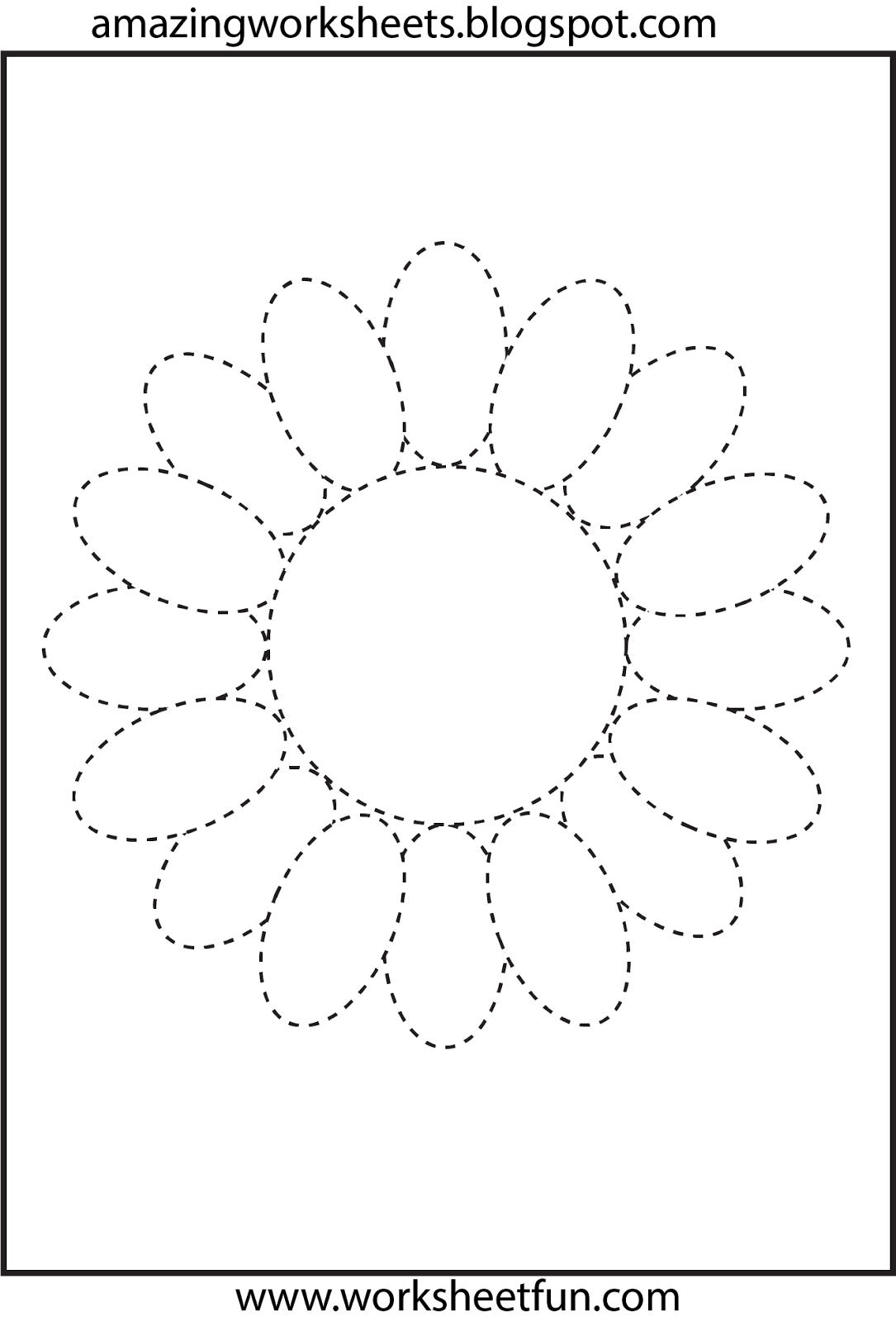 Letter Tracing Print Outs Flower tracing Download