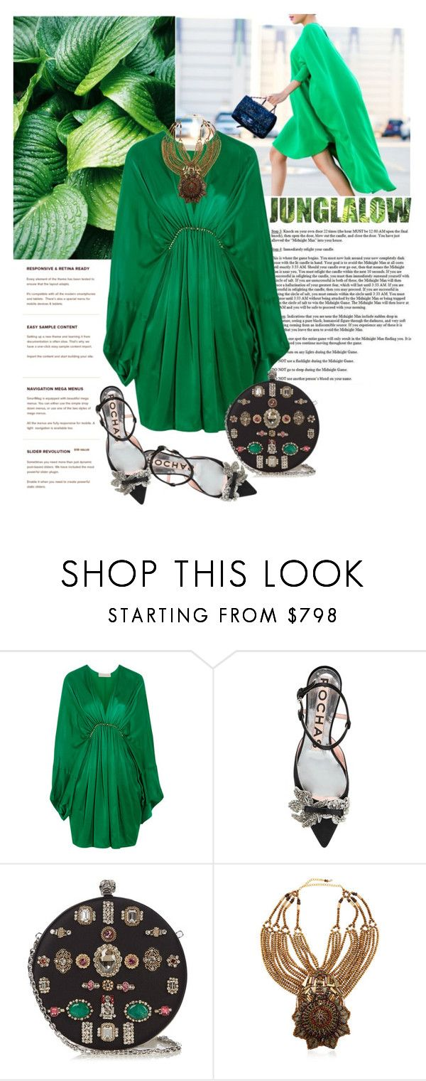 """Look # 729"" by lookat ❤ liked on Polyvore featuring STELLA McCARTNEY, Rochas, Alexander McQueen, Anita Quansah London and GREEN"