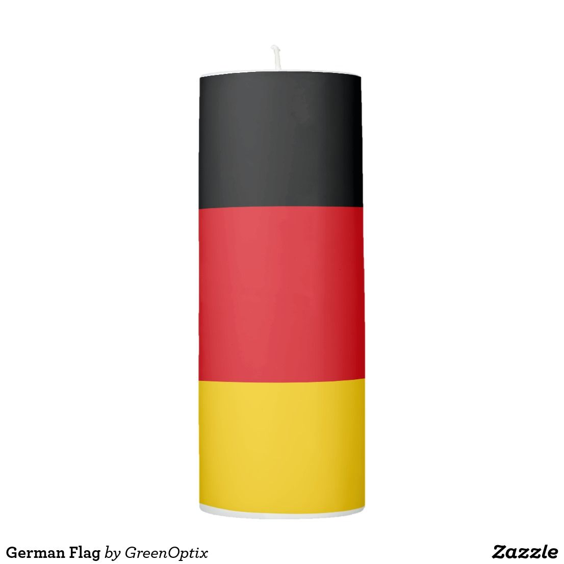 German Flag Pillar Candle Zazzle Com Custom Candles Pillar Candles Burning Candle