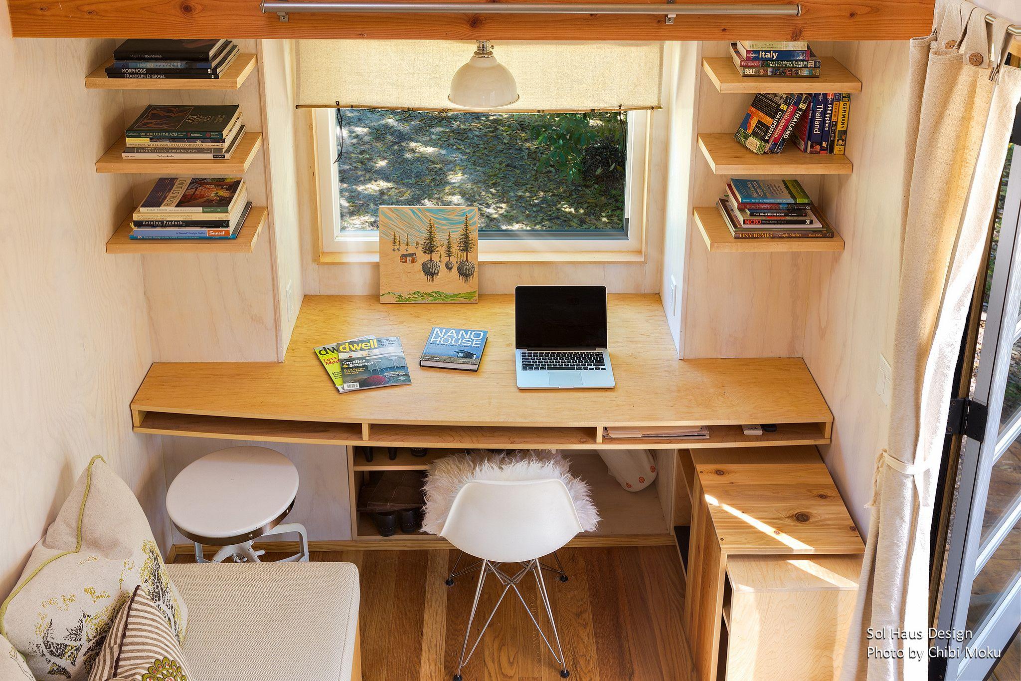 Sol Haus Design Vina S Tiny House Tiny Home Office Tiny House Desk Small Home Offices