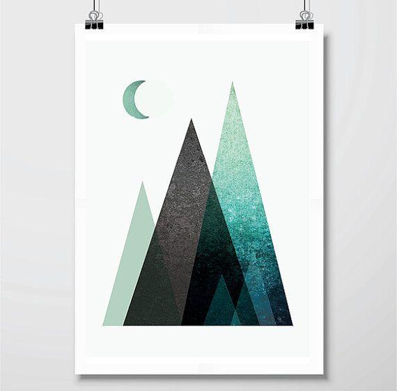 Set of 3 Prints Print Set Mountains by UrbanEpiphanyPrints on Etsy