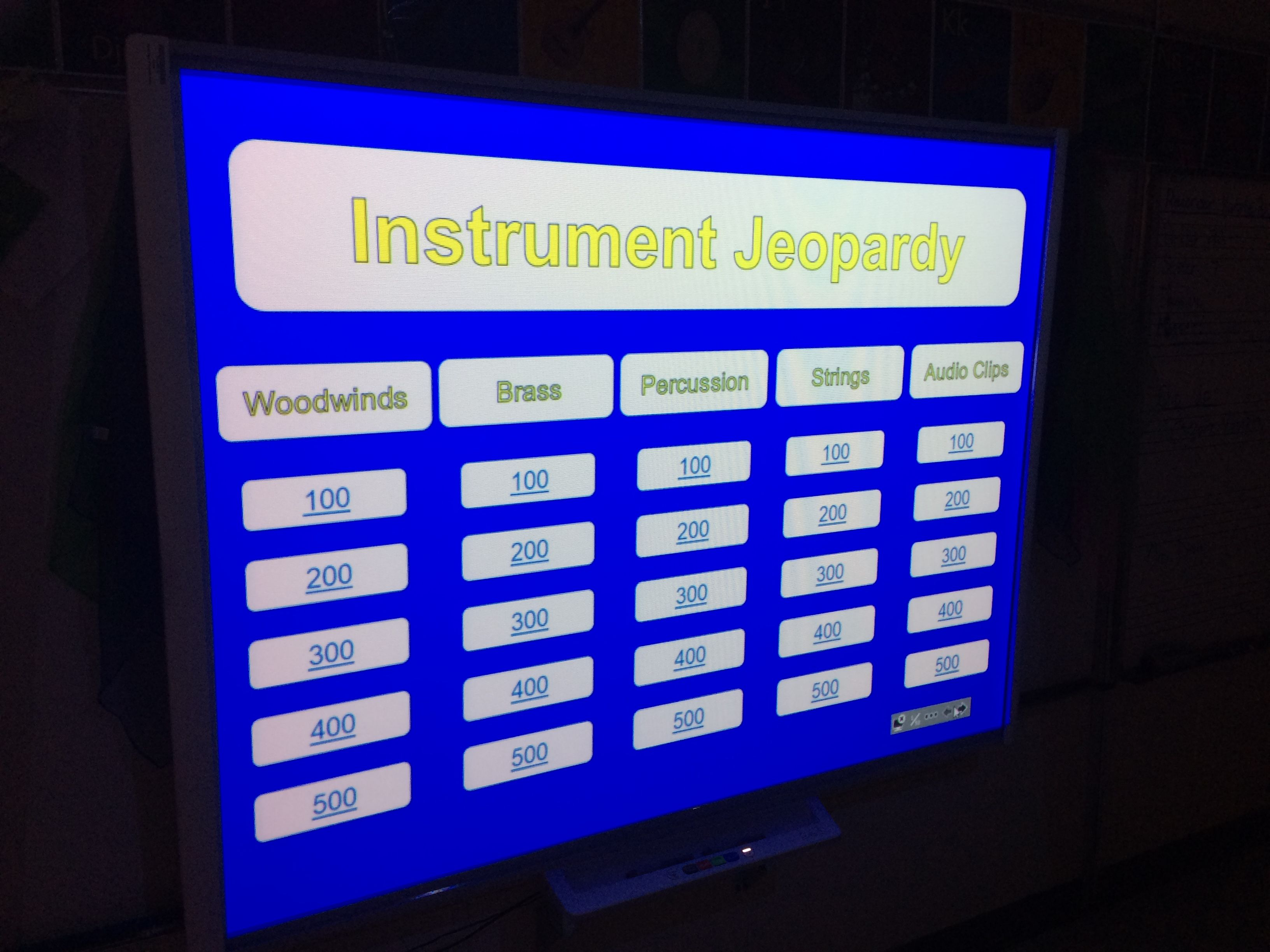 Instrument Jeopardy Music Game | Elementary Music | Music games