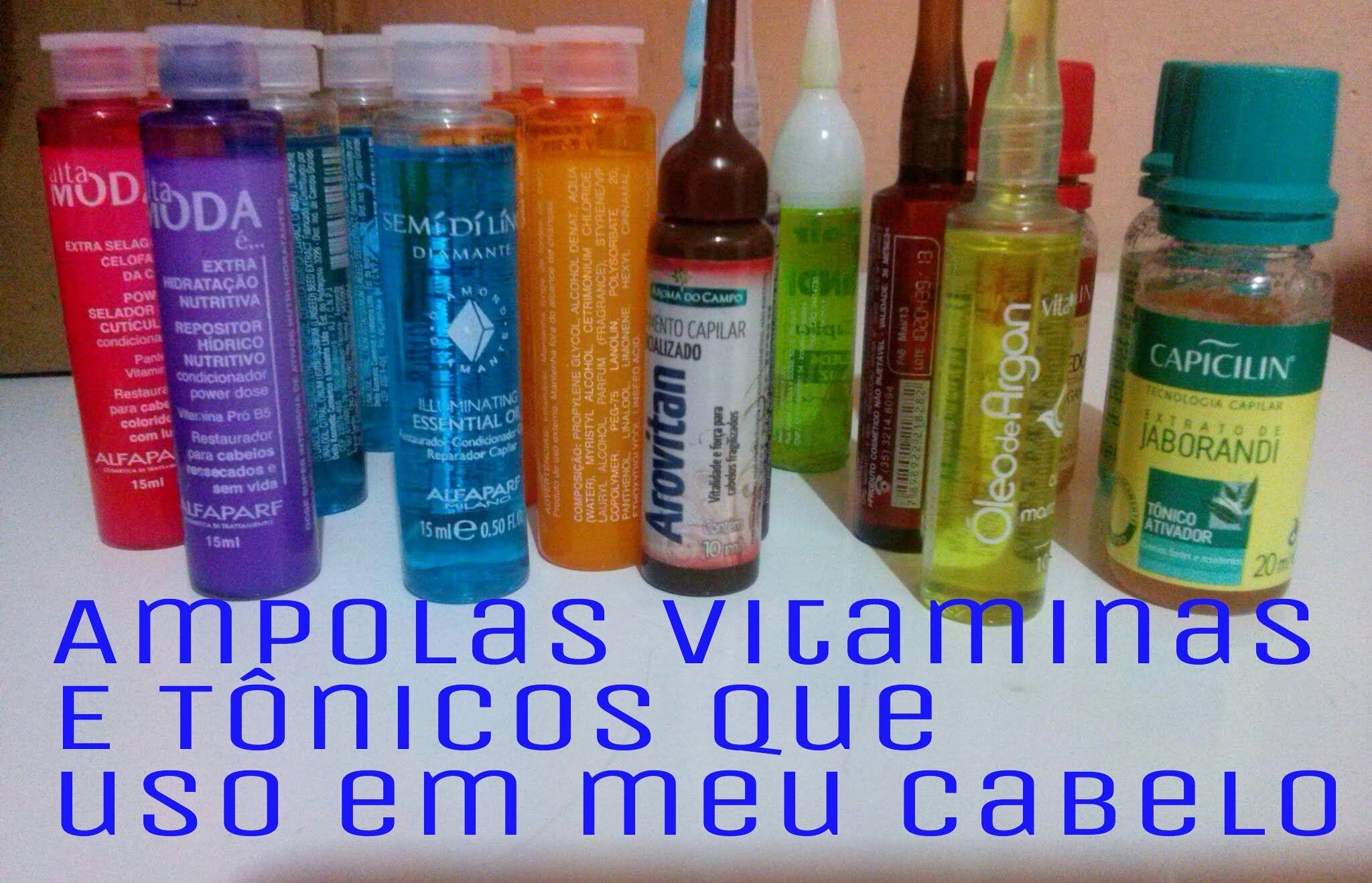 Ampolas Vitaminas E Tonicos Que Uso Em Meu Cabelo Com Imagens