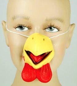 Deluxe YELLOW CHICKEN NOSE Latex Rubber Bird Bill Beak Costume Mask Toy Farm Red | eBay