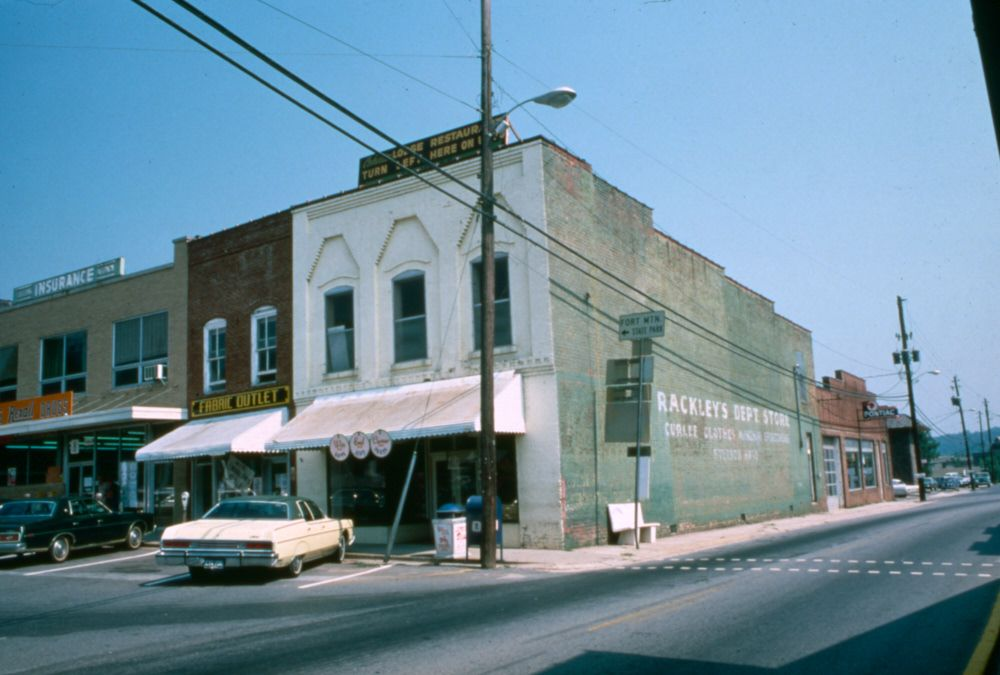 Downtown Ellijay Ga At The Square C1975 Small Town America