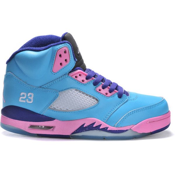 4d0487bf28f Nike Air Jordan Shoes Women's Grade AAA Light Blue Purple Pink ❤ liked on  Polyvore featuring shoes, jordans, sneakers, nike and stuff