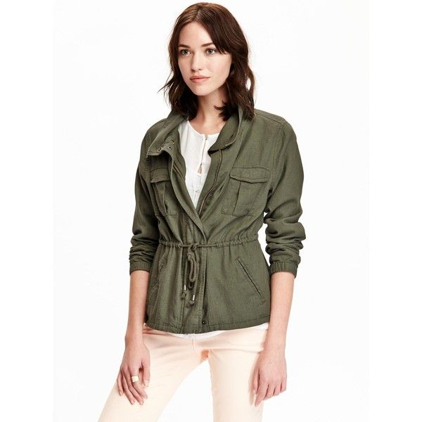 Old Navy Womens Linen Blend Field Jackets (620 MXN) ❤ liked on ...