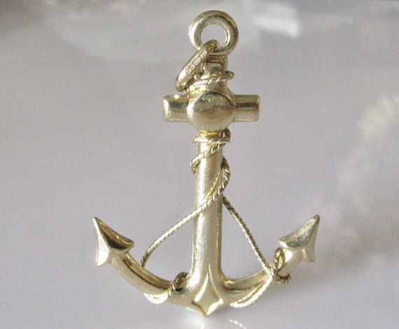 Huge 9ct Gold Anchor Pendant Pendants Gold and Gems jewelry