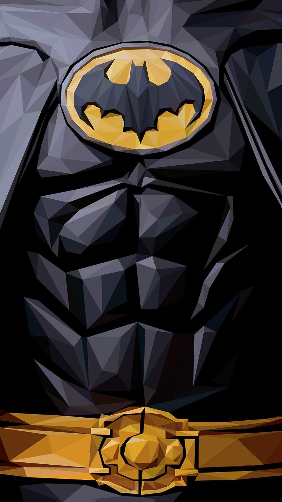 Batman Polygon 4k Iphone Wallpaper In 2020 Batman Wallpaper