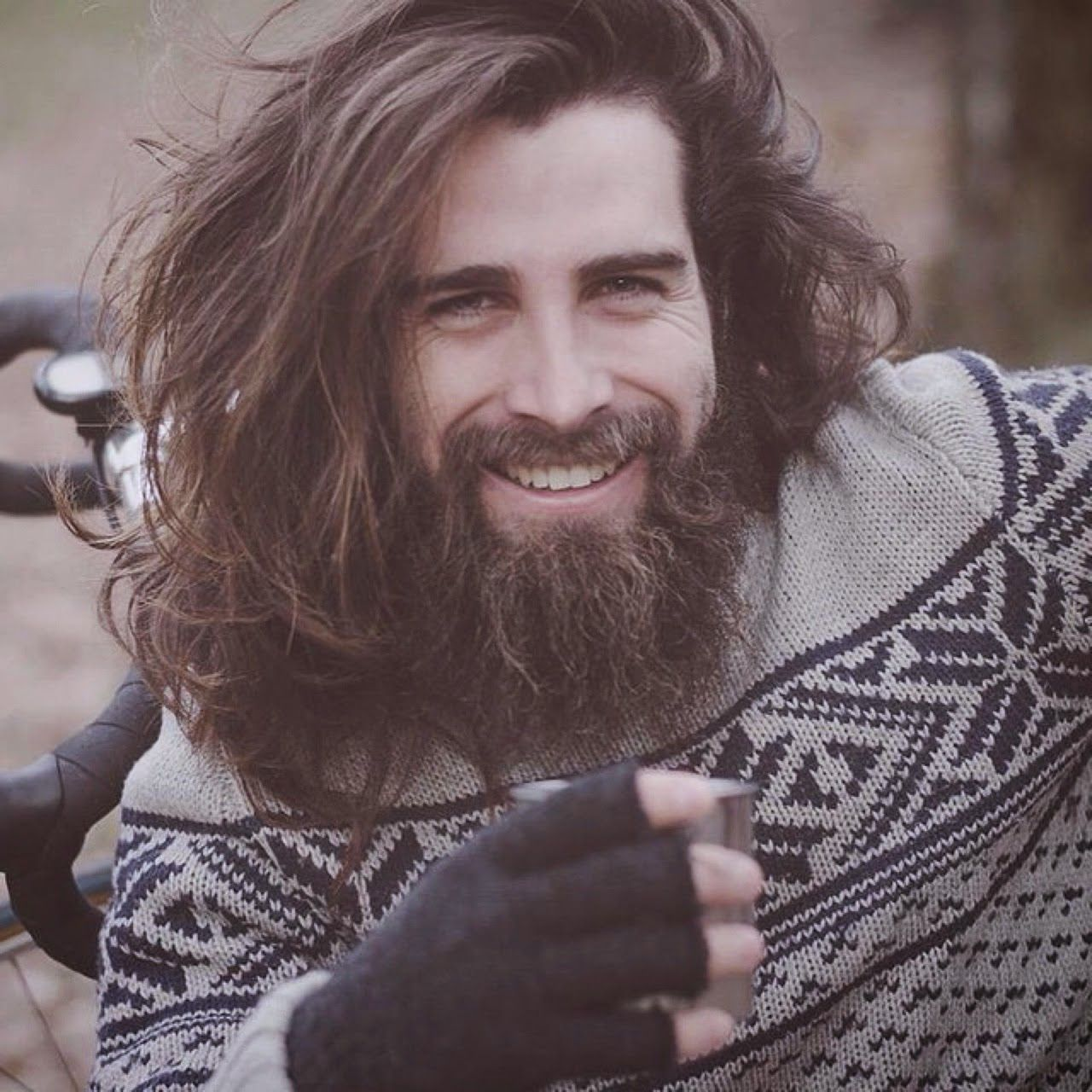 stylish beard mens with long hair and tattoo tumblr - Pesquisa Google