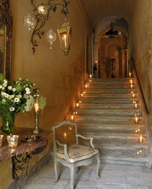 .Beautiful stairs and lights