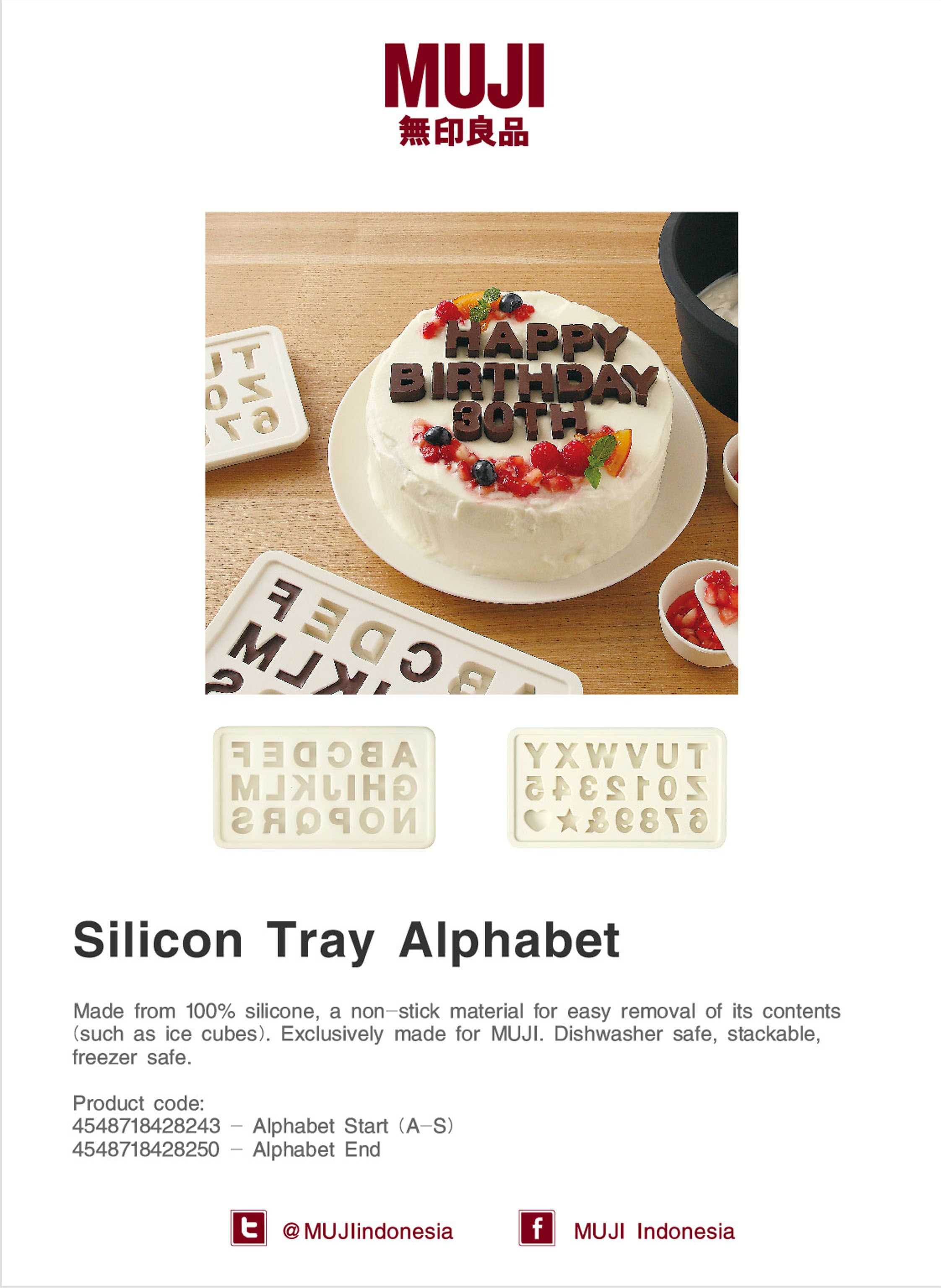[Silicon Tray Alphabet] a non-stick material for easy removal of its contents. Dishwasher & freezer safe, stack-able.