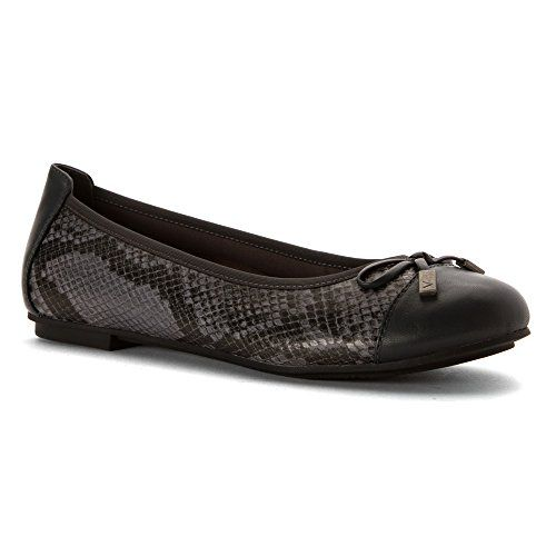 Vionic with Orthaheel Technology Women's Minna Ballet Flat,Natural Snake,US  5 M