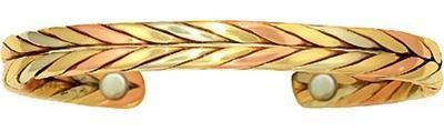 Sergio Lub Wheat - Copper Magnetic Therapy Bracelet - Made in USA! - WellnessMarketer