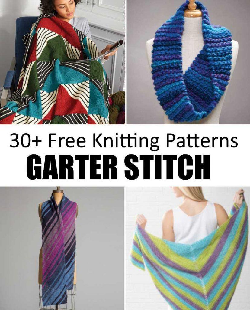 Free Garter Stitch Knitting Patterns to Download Now!   Knitting ...