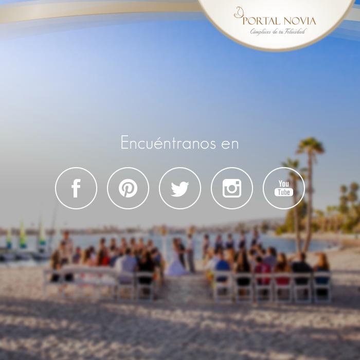 Sé parte de nuestras redes sociales y entérate de nuestras novedades, promociones y grandes eventos que tenemos para ti www.PortalNovia.pe