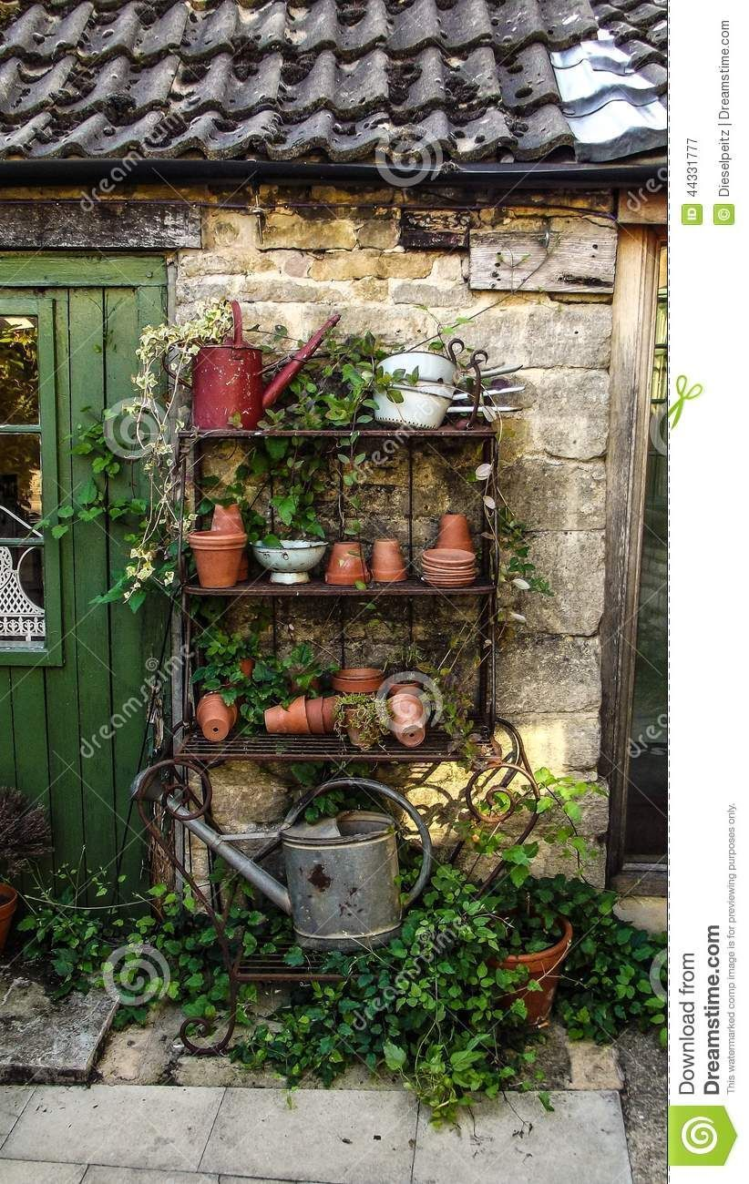 green-fingers-gardening-tools-comprising-watering-can-plant-pots ...