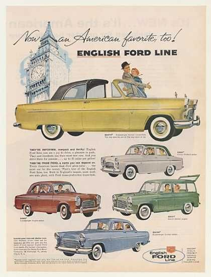 0f69a8f629 English Ford Consul Convertible Prefect Anglia (1959)