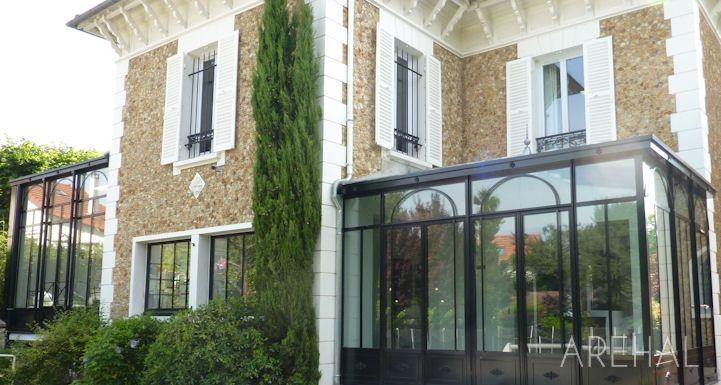 Arehal - véranda et verrière à lu0027ancienne sur mesure en région - renovation electricite maison ancienne