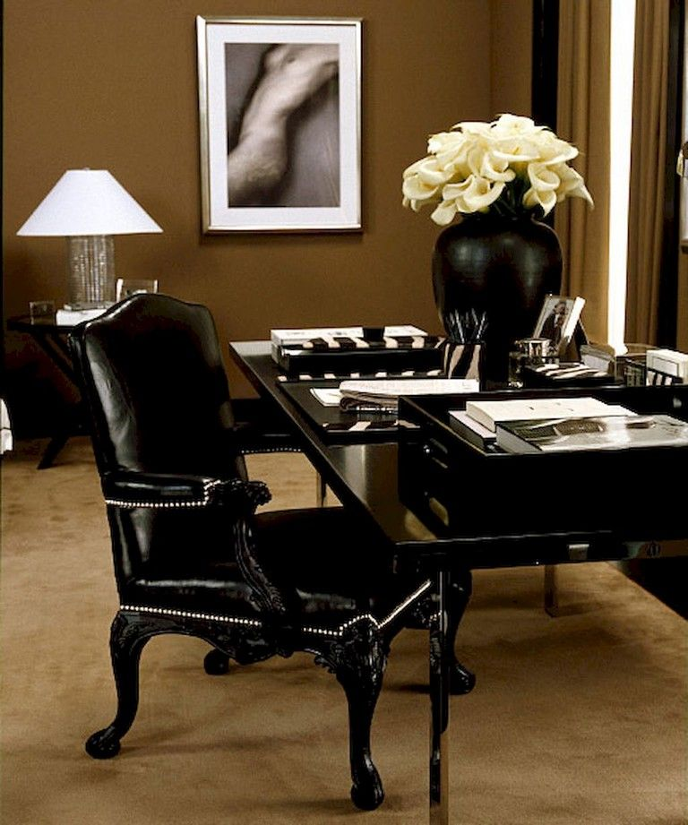 56+ Stunning Moody Mid Century Home Office Decor Ideas house - Home Office Decor Ideas