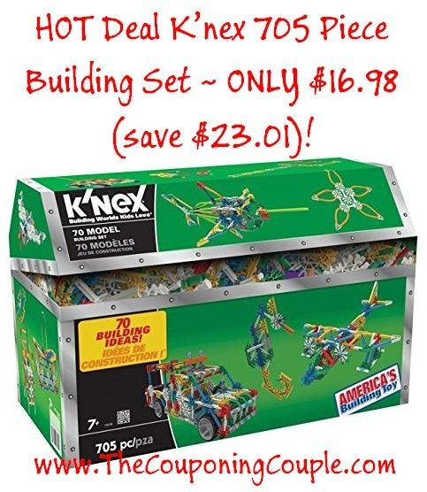 ***HOT DEAL*** K'nex 705 Piece Building Set ONLY $19.68! GRAB NOW before the price goes back up! Click the link below to get all of the details ► http://www.thecouponingcouple.com/knex-705-piece-building-set-16-98-save-23-01/  #Coupons #Couponing #CouponCommunity  Visit us at http://www.thecouponingcouple.com for more great posts!