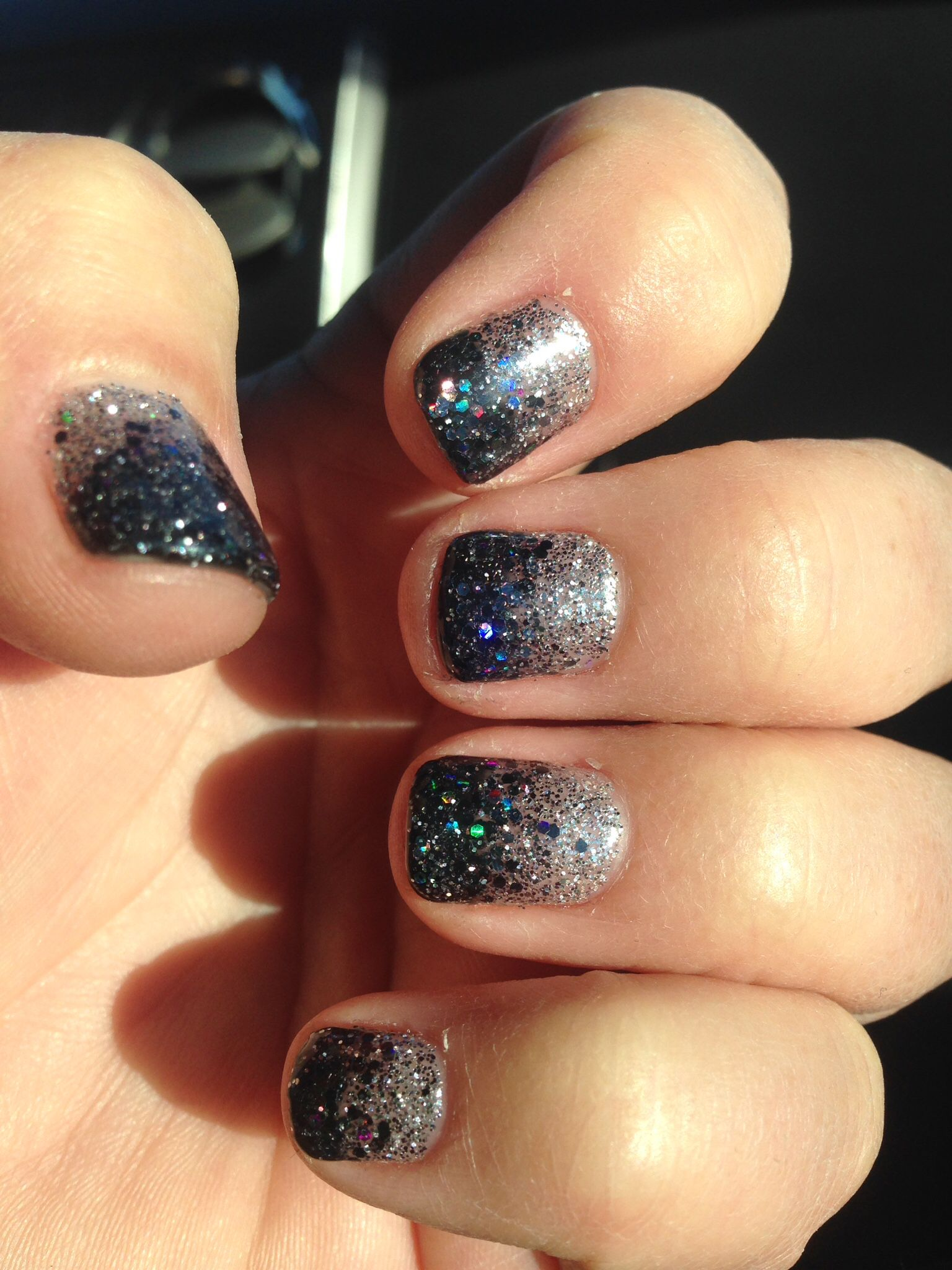 New Year\'s Eve gel nails glitter nails | Nails | Pinterest | Glitter ...