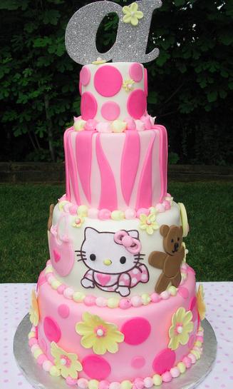 Beautiful Hello Kitty Baby Cake