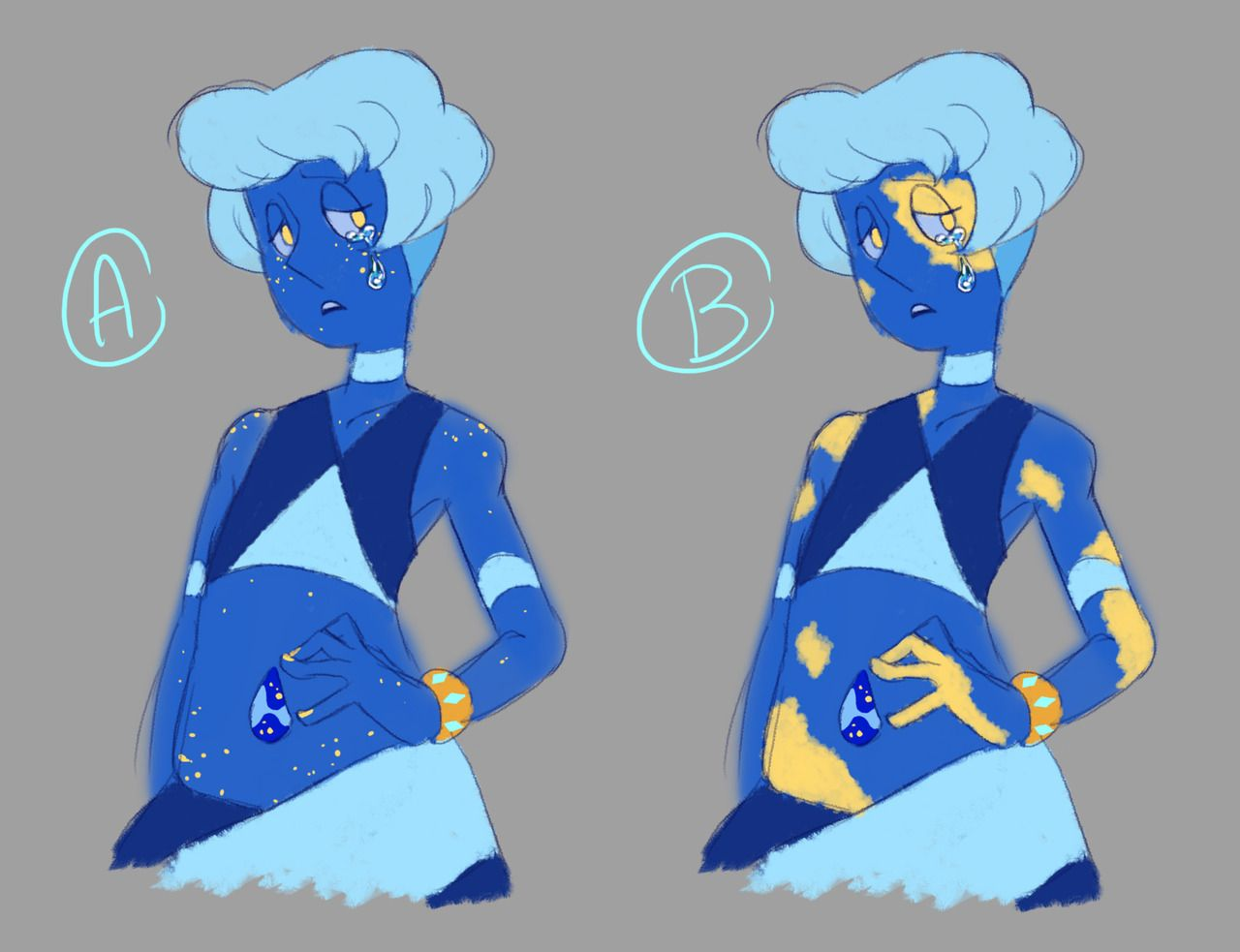 Gold Freckles Or Scars Morenapis Much Like Peridot Is An Holder Fuse Box 87 Dakika Era 2 Lapis She Has Come Out Discoloured With Light Blue And Patches On Her