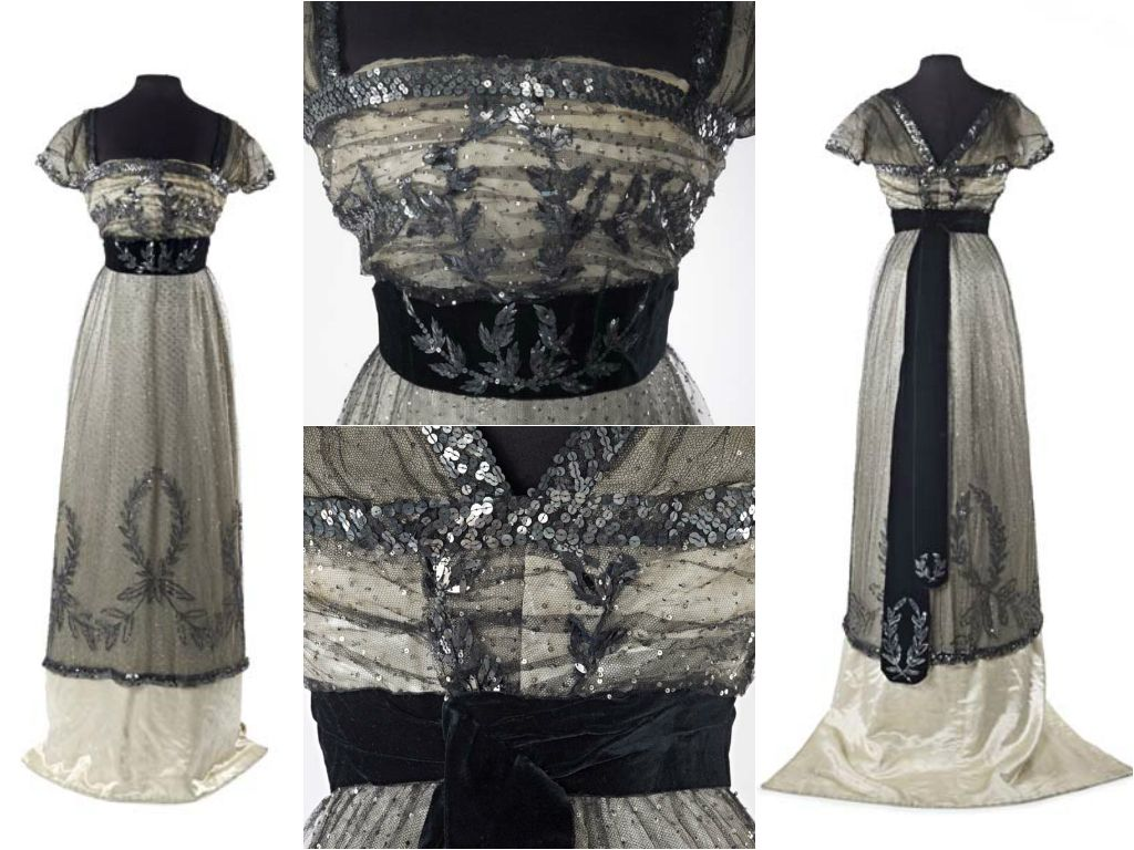 Evening Dress By Madame Hayward C 1909 10 At The Museum Of London See Http Collections Museumoflondon Org Uk Edwardian Fashion Vintage Outfits Fashion