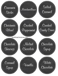 Hot Chocolate Bar Labels #hotchocolatebar