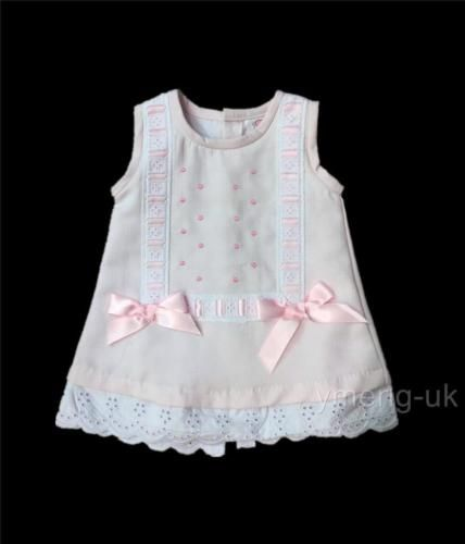 9c505ac1f0f1 Beautiful-Baby-Girl-039-s-Pink-Spanish-Traditional-Dress -Romany-Satin-Bow-0-36Mths